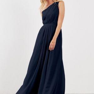 Weddington Way Savannah Navy Dress (Size 4)